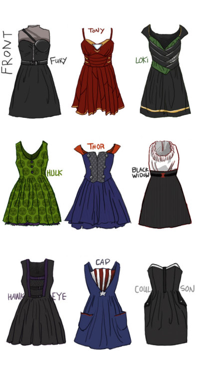thechosenone305:  girlundefined2:  channinglovestom:  I WANT THEM ALL   FOR FUCKS SAKE, Someone make all of them!  I need the Fury one so fucking badly for prom  I HAVE A MIGHTY NEEEEEEEED  ALL THE DRESSES