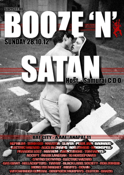 Booze and Satan. Winter 2012.
