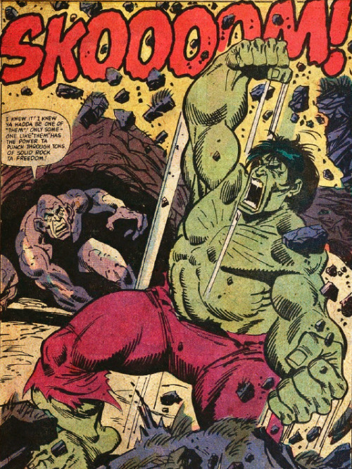 The Hulk Battles The Absorbing Man By Sal Buscema