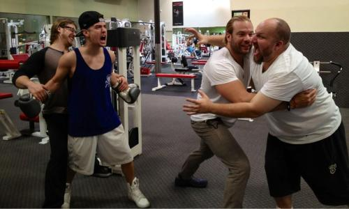 @EricTheTrainer: Big Time rumble at the gym with @StephenGlickman @1LoganHenderson @AlecTheTrainer @bigtimetour @bigtimerush @GoldsGym
