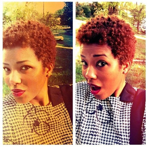 naturalhairdaily:  @naturallyglamorous keeps it short and sassy! #teamnatural #Naturalhair #shortandsassy