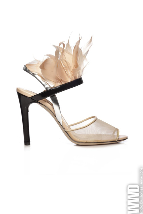 womensweardaily:  Spring 2013 Accessories: New York Reed Krakoff RTW Spring 2013  On my out of town adventure last weekend we drove by Harriman, which as you may know is home to Woodbury Common…. and the Reed Krakoff outlet I discovered. A pair of blush colored booties with rubbery effect cap toe later and we were back to the autumn leaves. I've worn them twice already and- yes yes yes.