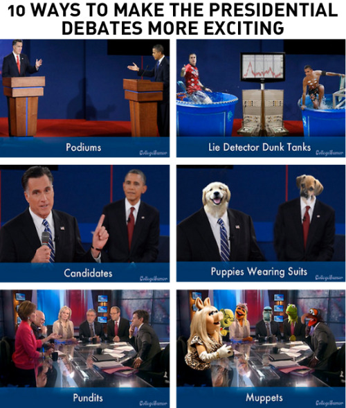 10 Ways to Make the Presidential Debates More Exciting [Click to continue reading]