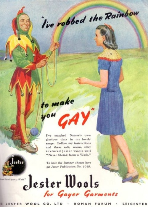Just in case you're wondering how to make your garments gayer.