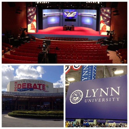 Boca Raton, Fla. and Lynn University prepare for tonight's final Presidential Debate. #NBCPolitics (Photos: Dwaine Scott @nbcnewscrew / NBC News)