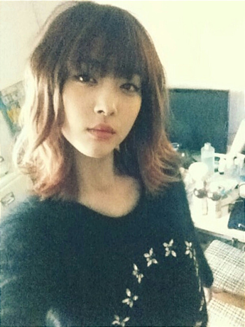 justkpopblog:  i like how she looks in this hair ^^ (Sulli me2day) click for more KPOP