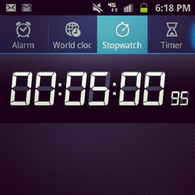 New personal best for the length of time that I can hold a plank. I'm a happy camper.