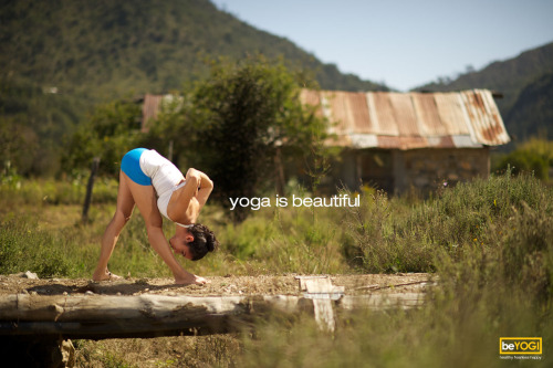 Yoga is beautiful.