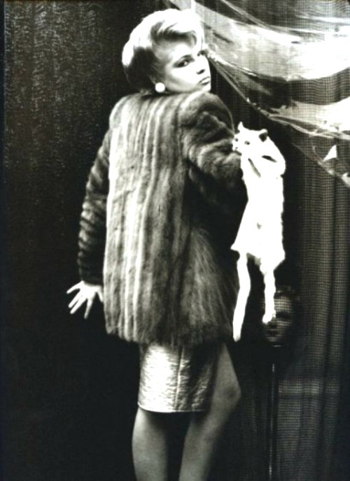 Woman and cat by Irina Ionesco, 1980Also