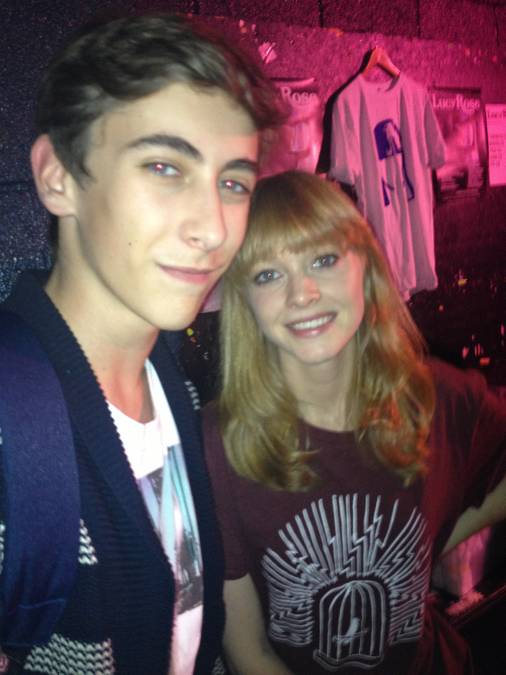 Here is Tom (peacefulmeadows) with Lucy rose