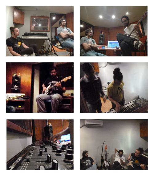 #fotos grabando el 2do disco humanoide. tracking de bajo, guitarras, sintes y upgrade de beats. sab20 y dom21