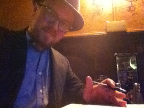 GPOY: Heschel & Hamburger Edition  Reading Abraham Joshua Heschel's book The Sabbath and enjoying a Gaelic hamburger.