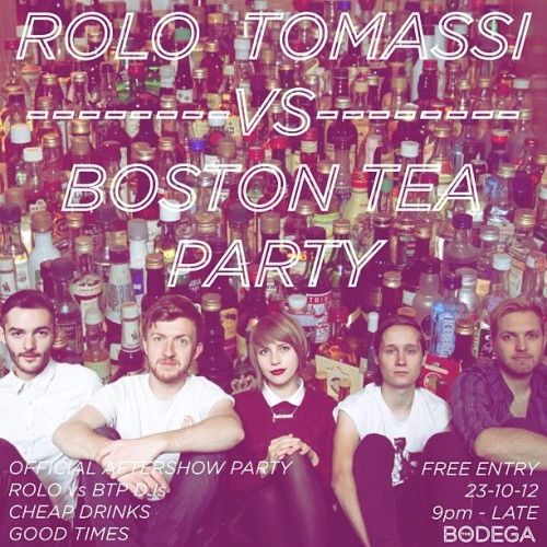 Better late than never - poster for the @rolotomassiband vs BTP afterparty tomorrow night!  (at The Bodega Social Club)