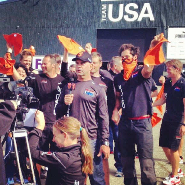 #oracleteamusa wish @sfgiants good luck #game7 #octoberorange #wintoday  (at Oracle Team USA -Pier 80)