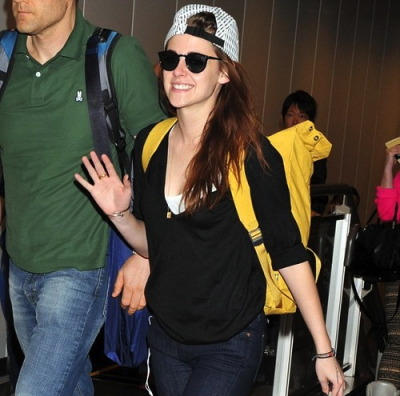 Kristen Stewart at Narita International Airport in Japan…