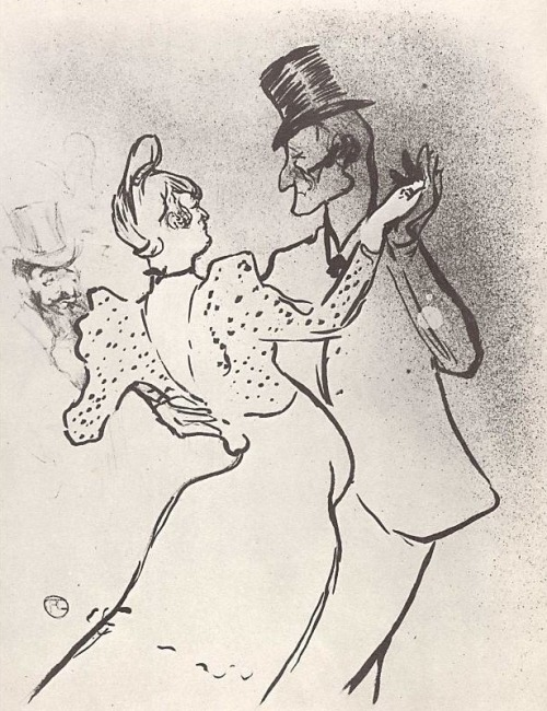 La Goulue and Valentin Désossé dancing.