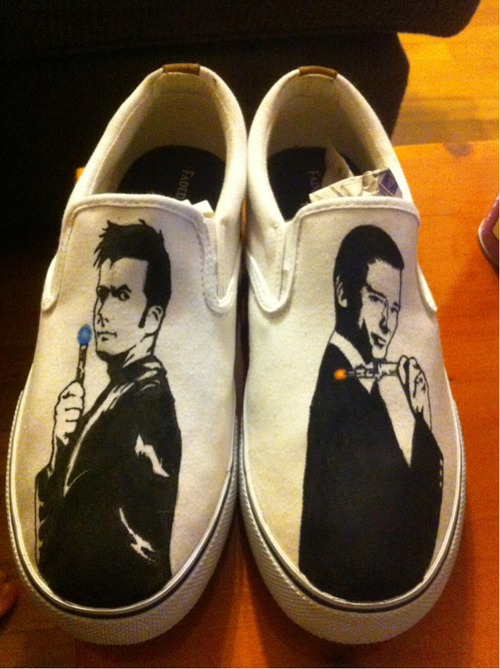 Hand painted doctor who shoes  submitted by cartergriffen
