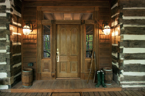 North Georgia log cabin. Clark & Zook Architects.