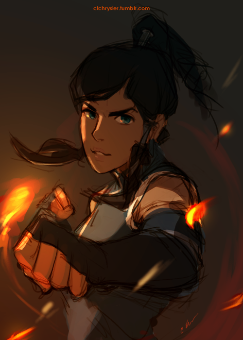 ctchrysler:  She's such an awesome waterbender. Korra © Bryan Konietzko & Michael Dimartino
