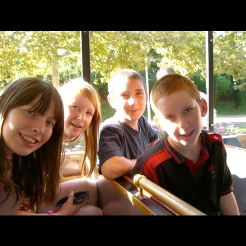 Me, Charlotte, Gwilym and Rhys in #spain #portaventura #september #2010 #holiday