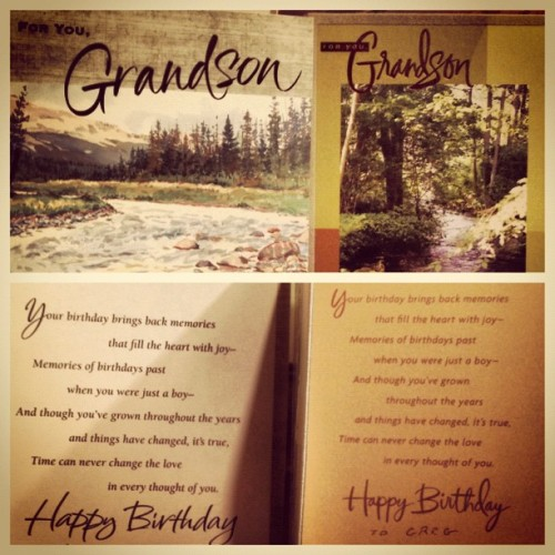 Amazing #grandparents think alike! Something feels very special receiving the same card from both sides completely by chance! #thankyou! #loveyou! #happybirthdaytome