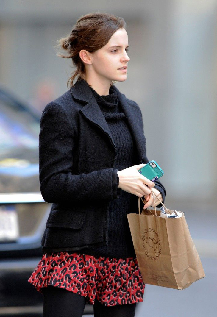 suicideblonde:  Emma Watson in NYC, October 21st