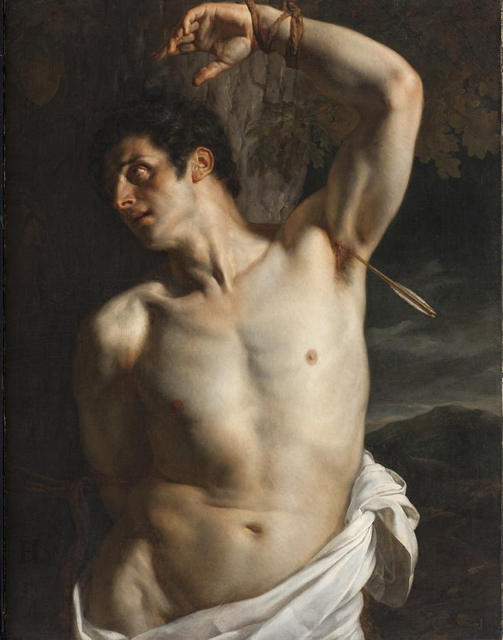 thisblueboy: Hyppolyte Paul Delaroche (French, 1797-1856), St. Sebastian, Oil on canvas