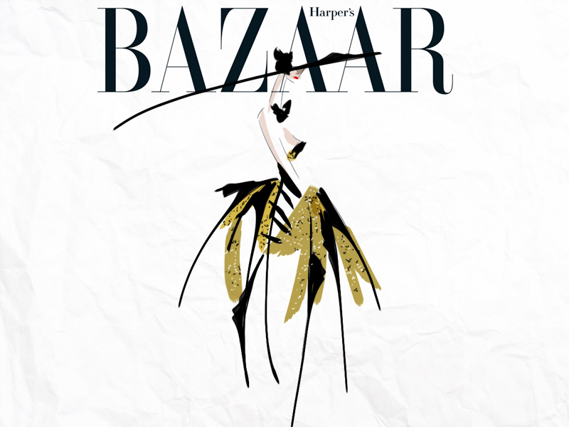 harper's bazaar. #illustration