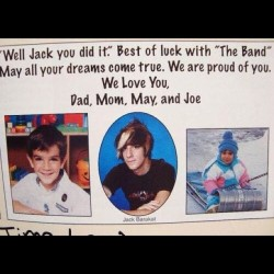 "tays-boobs:  Asdfghkl; this is so cute! I can't. ""Best of luck with the band"" xD #jackbarakat #babe #young #skunkhair @jackalltimelow"