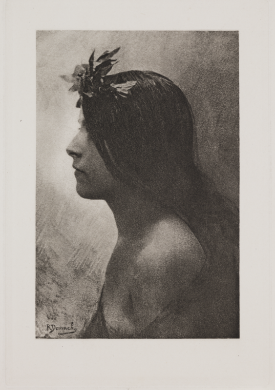 liquidnight:  Robert Demachy Profile Photogravure, 1896 [From the National Media Museum Collection]