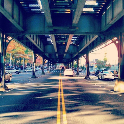 Under The Tracks . New post up on www.observetheheights.com #instagramuptown #uptown #washingtonheights #inwood #newyorkcity #MTA #city