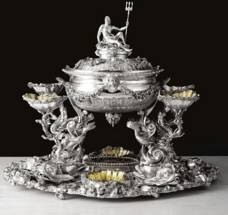 George III Silver center piece circa 1786