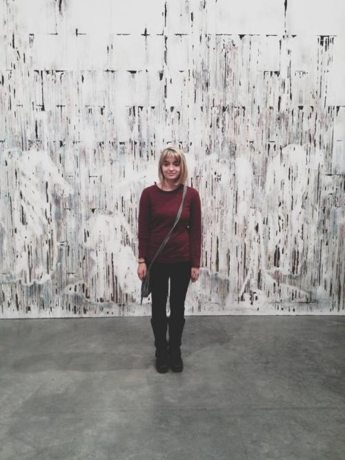 cut lots of my hair off + went to see the diana al-hadid solo show
