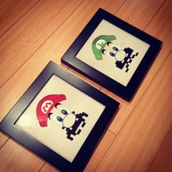 my pieces for the old school video game show at gallery 1988. opens this friday in venice, ca.