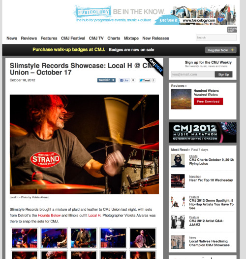 Slimstyle Records Showcase: Local H & The Hounds Below at CMJ Union Sq Click here to article in CMJ.com www.violetaalvarezphotography.com © Violeta Alvarez - all rights reserved