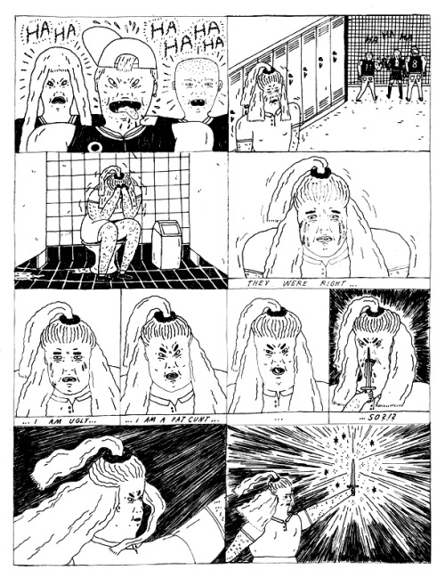 kungfuontheinternet:  gangbangbong:  Excerpt from Maren Karlson's comic for the upcoming Gang Bang Bong 3  yay! i can't wait to see the finished zine, it's going to be totally sick, so everyone go and buy it!!! i feel so honoured to be included in it alongside such amazing people.