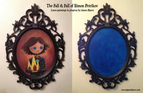 Latest Paintings in Progress: 'The Fall & Fall of Simon Petrikov' (Adventure Time) First finished, onto the second… x  My site / My Facebook