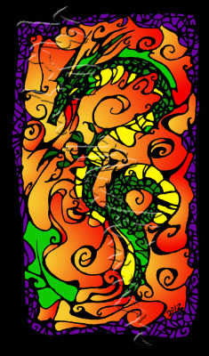 Art Minis - Dragon I in Colour by ~Eseopia New in my Deviantart Gallery :).