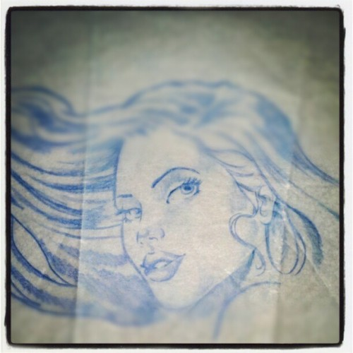 #Blue Baby - #sketch #SKETCHING #drawing #tattooflash #art #freehand #beautiful #girl #tattooart #colorpencil #prisma #GoldenTouchTattoo #SERV1