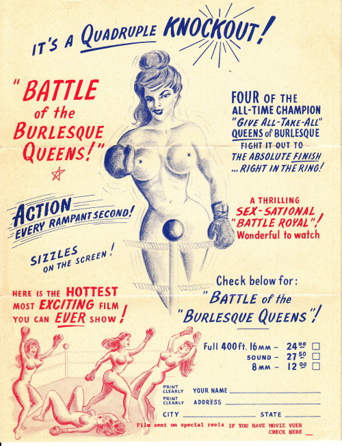 BATTLE OF THE BURLESQUE QUEENS   circa 1960 brochure collection Victor Minx Follow TRUE BURLESQUE the blog