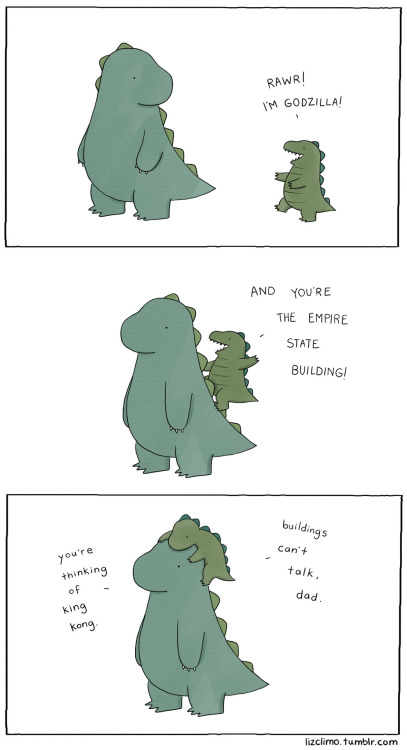 Los edificios no hablan  lizclimo: king godzilla  for toby and indiana
