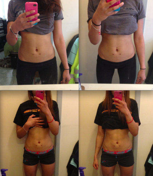 thefitnessmotto:  Week 3 vs. Week 6 progress
