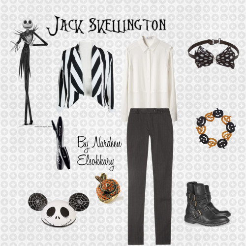Jack Skellington by nardeenelsokkary featuring long sleeve blouses