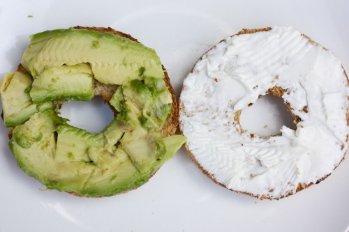 citrus-t:  Click for more, following back similars♡   Avocado + creme cheese