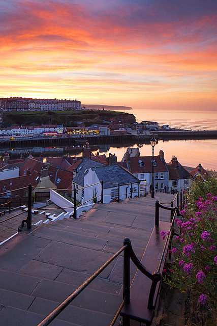 visitheworld:  199 Steps to the sea, Whitby, England (by Ally Mac).
