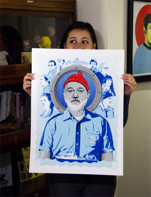 We've just announced the contest winners for this sweet Life Aquatic print designed by Tracie Ching. If you entered, check your email to see if you won! If you didn't get a chance to enter, we have a new contest starting tomorrow, this time for a Royal Tenenbaums print by Joshua Budich, so stay tuned!