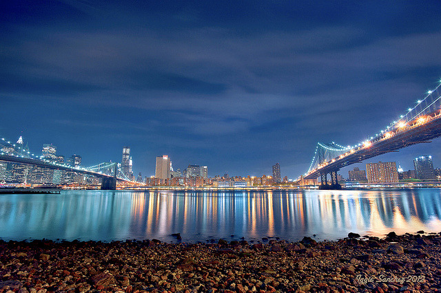 Manhattan And Brooklyn by 10iggie on Flickr.