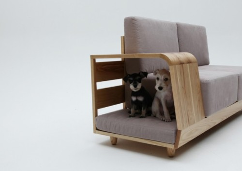Genius! Dog house sofa. The perfect solution for living with dogs. I wish I had a dog now. Design by Seungji Mun