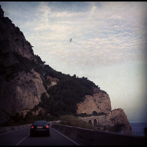 A romantic Road over the sea… #sea #liguria #italy  (at Capo Noli)