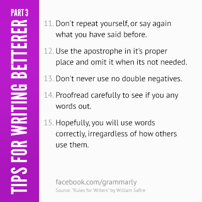 More tips for writing betterer!